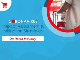 Coronavirus Impact Assessment And Mitigation Strategies On Retail Sector Complete Deck