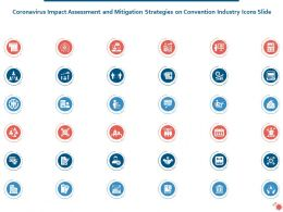 Coronavirus Impact Strategies On Convention Industry Icons Slide Ppt Pictures