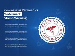 Coronavirus Paramedics Watermark Stamp Warning