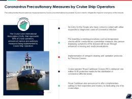 Coronavirus Precautionary Measures By Cruise Ship Operators Ppt Ideas Samples