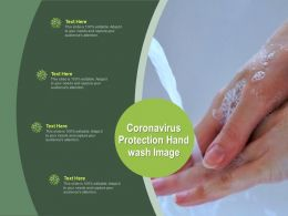 Coronavirus Protection Hand Wash Image Ppt Powerpoint Presentation Layouts Infographics