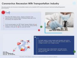Coronavirus Recession With Transportation Industry Shipping Carriers Ppt Shows