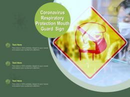 Coronavirus Respiratory Protection Mouth Guard Sign Ppt Powerpoint Presentation Infographics Tips