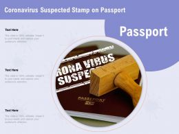 Coronavirus Suspected Stamp On Passport Capture Ppt Powerpoint Presentation Layouts Outline