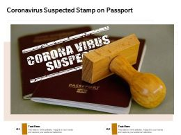 Coronavirus Suspected Stamp On Passport