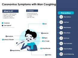 Coronavirus Symptoms With Man Coughing