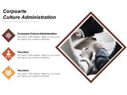 Corpoarte Culture Administration Ppt Powerpoint Presentation Icon Layouts Cpb