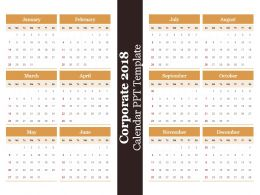 Corporate 2018 Calendar Ppt Template