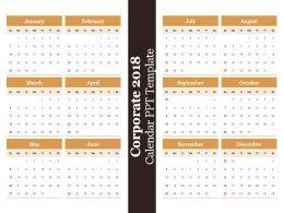 Corporate 2018 Calendar Ppt Template