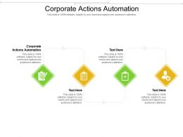 Corporate Actions Automation Ppt Powerpoint Presentation Infographic Template Icon Cpb