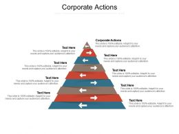 Corporate Actions Ppt Powerpoint Presentation Infographics Aids Cpb