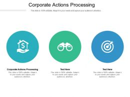 Corporate Actions Processing Ppt Powerpoint Presentation Infographics Background Images Cpb