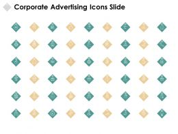 Corporate Advertising Icons Slide Globe Smiley Ppt Powerpoint Presentation Outline Vector