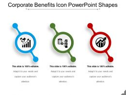 Corporate Benefits Icon Powerpoint Shapes