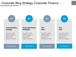 Corporate Blog Strategy Corporate Finance Strategies Cpg Retail Cpb