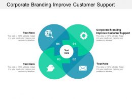 Corporate Branding Improve Customer Support Ppt Powerpoint Presentation Pictures Sample Cpb