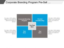 Corporate Branding Program Pre Sell Crowdfunding Targeted Advertising Cpb