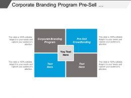 Corporate Branding Program Pre Sell Crowdfunding Targeted Advertising Cpb