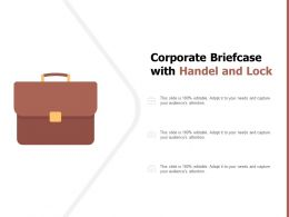 Corporate Briefcase With Handel And Lock