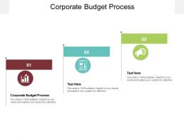 Corporate Budget Process Ppt Powerpoint Presentation Slides Maker Cpb