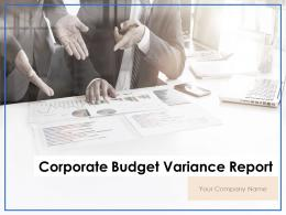 Corporate Budget Variance Report Powerpoint Presentation Slides