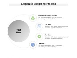 Corporate Budgeting Process Ppt Powerpoint Presentation Slides Vector Cpb
