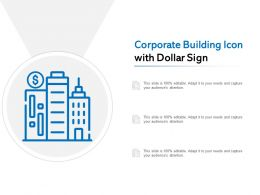 Corporate Building Icon With Dollar Sign