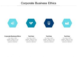 Corporate Business Ethics Ppt Powerpoint Presentation File Diagrams Cpb
