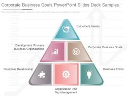 Corporate Business Goals Powerpoint Slides Deck Samples