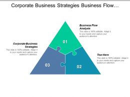 Corporate Business Strategies Business Flow Analysis Process Efficiency Strategies Cpb
