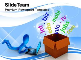 Corporate Business Strategy Box With Domains Networking Internet Diagram Ppt Designs Powerpoint