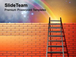 Corporate Business Strategy Leans On Wall With Rainbow Nature Image Ppt Design Slides Powerpoint
