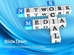 Corporate Business Strategy Network Media Crosswords Communication Ppt Slide Powerpoint