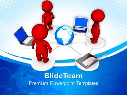 Corporate Business Strategy Powerpoint Templates Networking Global Ppt Process