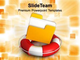 Corporate Business Strategy Rescue Circle With Folder Inside Editable Ppt Themes Powerpoint
