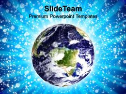 Corporate Business Strategy Templates Blue Earth Environment Ppt Process Powerpoint