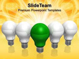 Corporate Business Strategy Templates Green Idea Technology Company Ppt Presentation Powerpoint