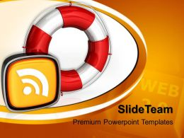 Corporate Business Strategy Templates Rescue Icon Rss Symbol Editable Ppt Slides Powerpoint
