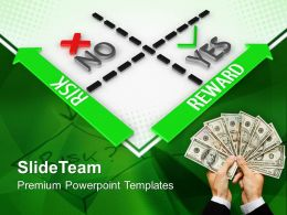 Corporate Business Strategy Templates Reward Vs Risk Ppt Slides Powerpoint