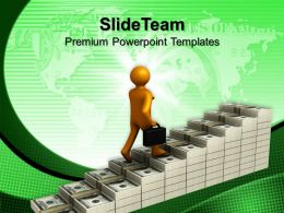 Corporate Business Strategy Templates Steps To Growth Finance Ppt Themes Powerpoint