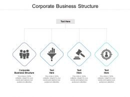 Corporate Business Structure Ppt Powerpoint Presentation Pictures Show Cpb