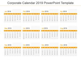 Corporate Calendar 2019 Powerpoint Template