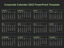 Corporate Calendar 2022 Powerpoint Template