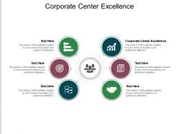 Corporate Center Excellence Ppt Powerpoint Presentation Slides Visuals Cpb
