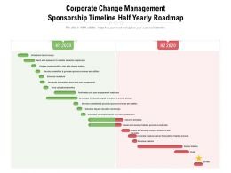 Corporate Change Management Sponsorship Timeline Half Yearly Roadmap