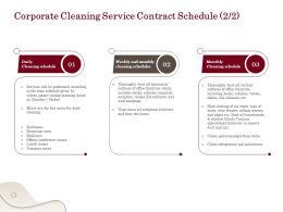 Corporate Cleaning Service Contract Schedule L1766 Ppt Powerpoint Presentation Gallery