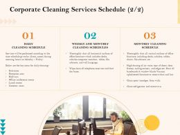 Corporate Cleaning Services Schedule Ppt Gallery