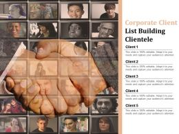 Corporate Client List Building Clientele