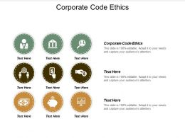 Corporate Code Ethics Ppt Powerpoint Presentation Model Introduction Cpb