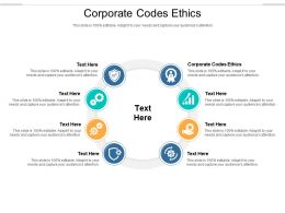 Corporate Codes Ethics Ppt Powerpoint Presentation Infographic Template Images Cpb